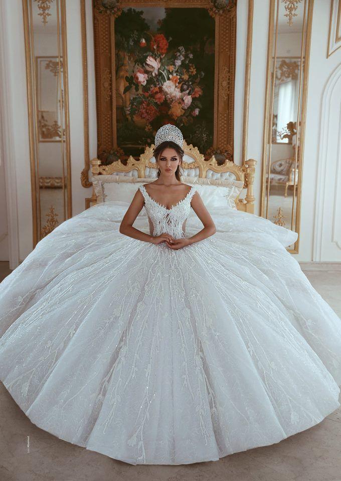 Luxus Brautkleider A Linie Weiß Prinzessin Brautkleider ...