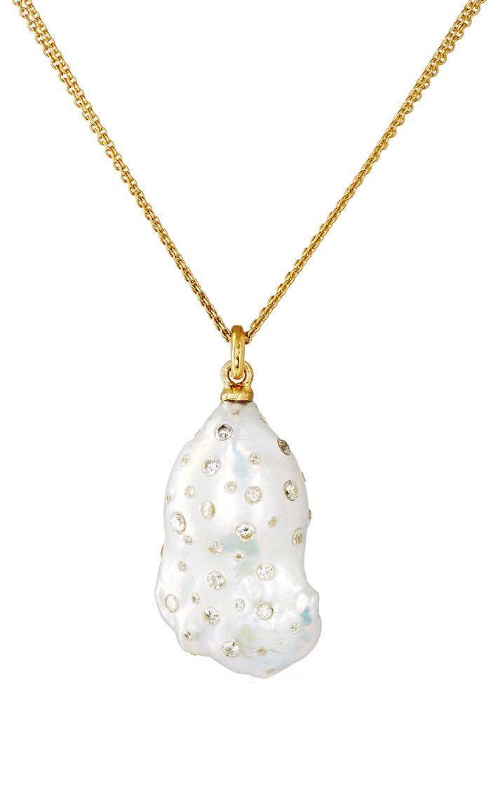 White Diamond & South Sea Pearl Necklace