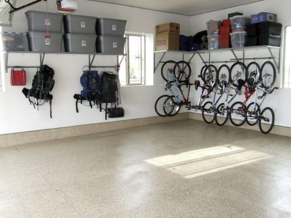 Gripping Rubbermaid Storage Cabinets Garage Also Granite Slab Flooring And Monkey Bar Bike Rack