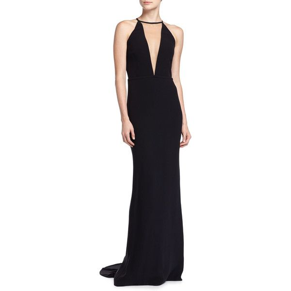 Michael Kors Collection Halter Gown with Train ($1,500) ❤ liked on ...