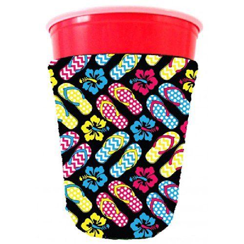 Coolie Junction Flip Flop Pattern Solo Cup Coolie -- For more information, visit image link.