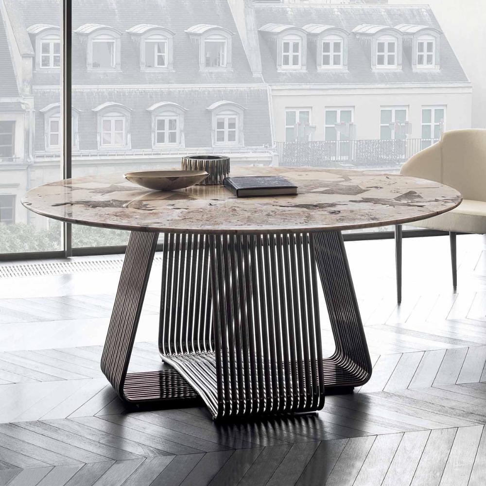 Sophisticated Italian Alyson Round Table Italian Designer Luxury Furniture At Cassoni Luxury Italian Furniture Outdoor Dining Room Glamourous Dining Room [ 1000 x 1000 Pixel ]