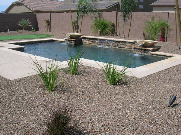Pin By Anna Cagno On For My Home Backyard Pool Landscaping Small Backyard Pools Arizona Backyard Landscaping