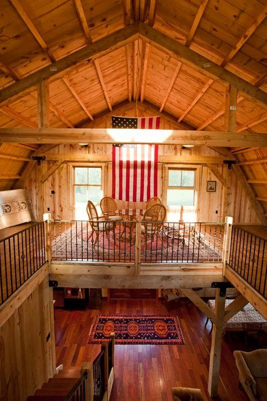 Sand creek post beam designing dreams pinterest for Barn loft homes
