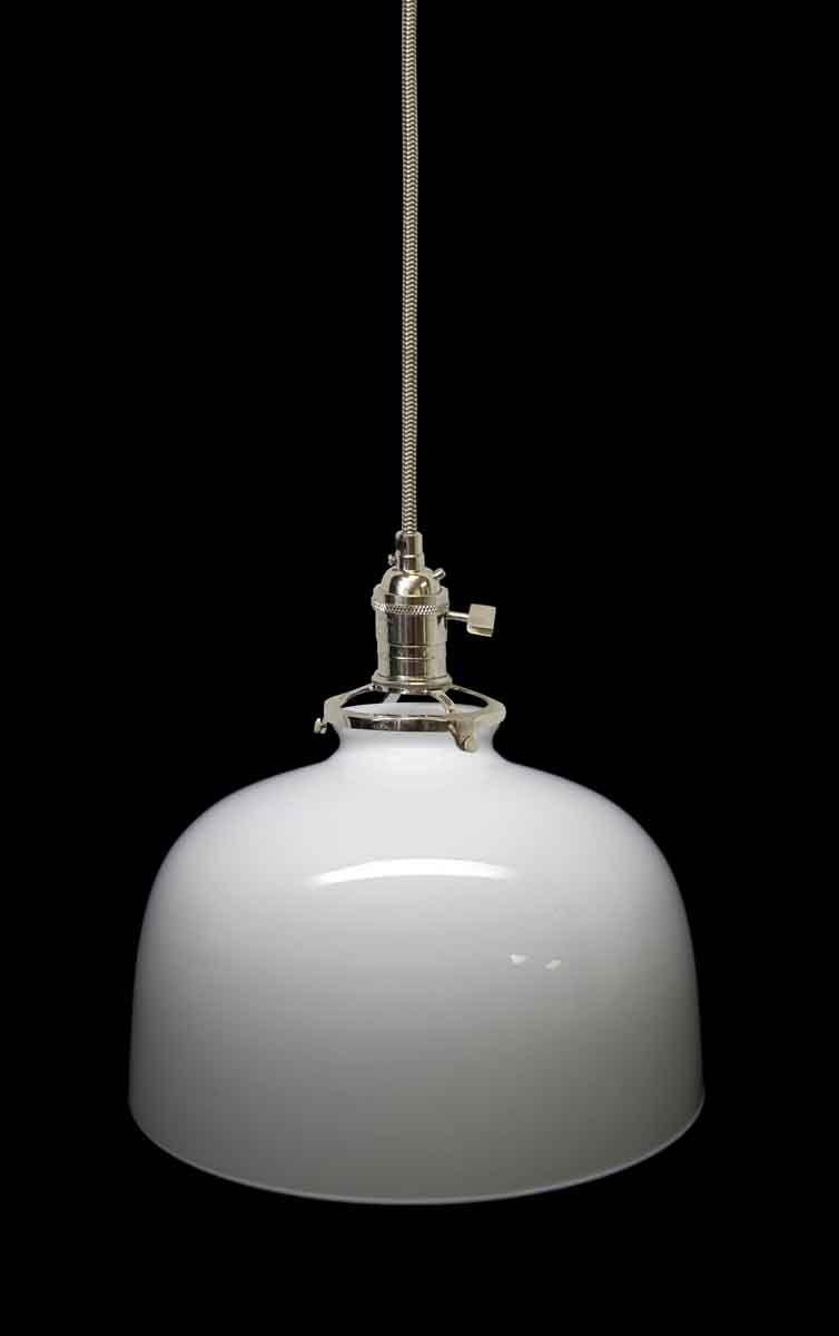 Opaque Milk Glass 1920s Shade Pendant Vintage Pendant Lighting Glass Pendant Light Pendant Light