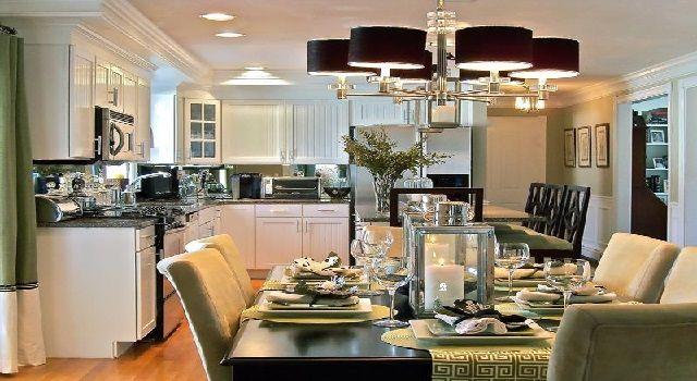 Combined Kitchen and Dining Room Design Kitchen Design Ideas