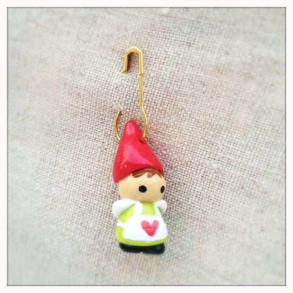 Girl Gnome Stitch Marker. $6.00, via Etsy.