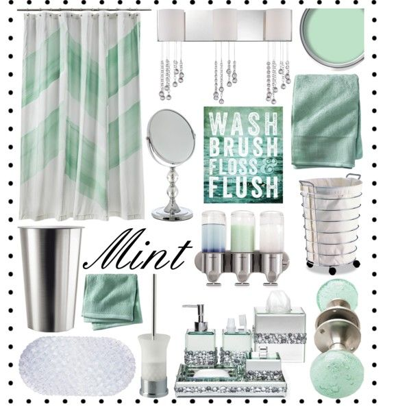 Mint And Silver Bathroom Decor By Hmb213 On Polyvore