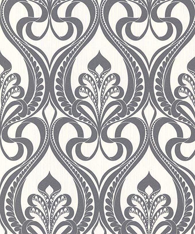 Grandeco Gold Art Nouveau Charcoal Wallpaper 113001