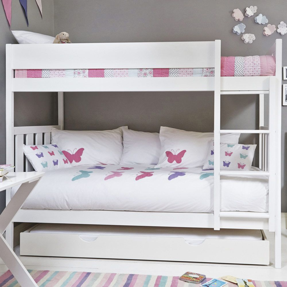 Bright White Darwin Bunk Bed Bunk Beds Beds & Mattresses