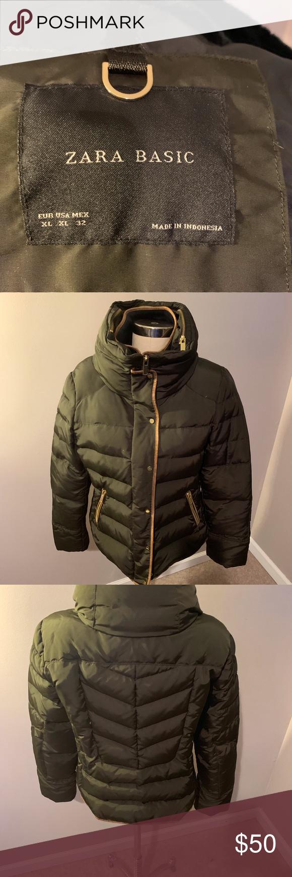Zara Basic Down Jacket Womens Jackets For Women Zara Basic Jackets [ 1740 x 580 Pixel ]