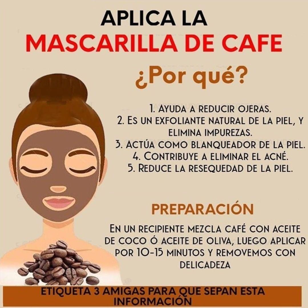 Mascarillas de cafe para aclarar la piel, celuliti