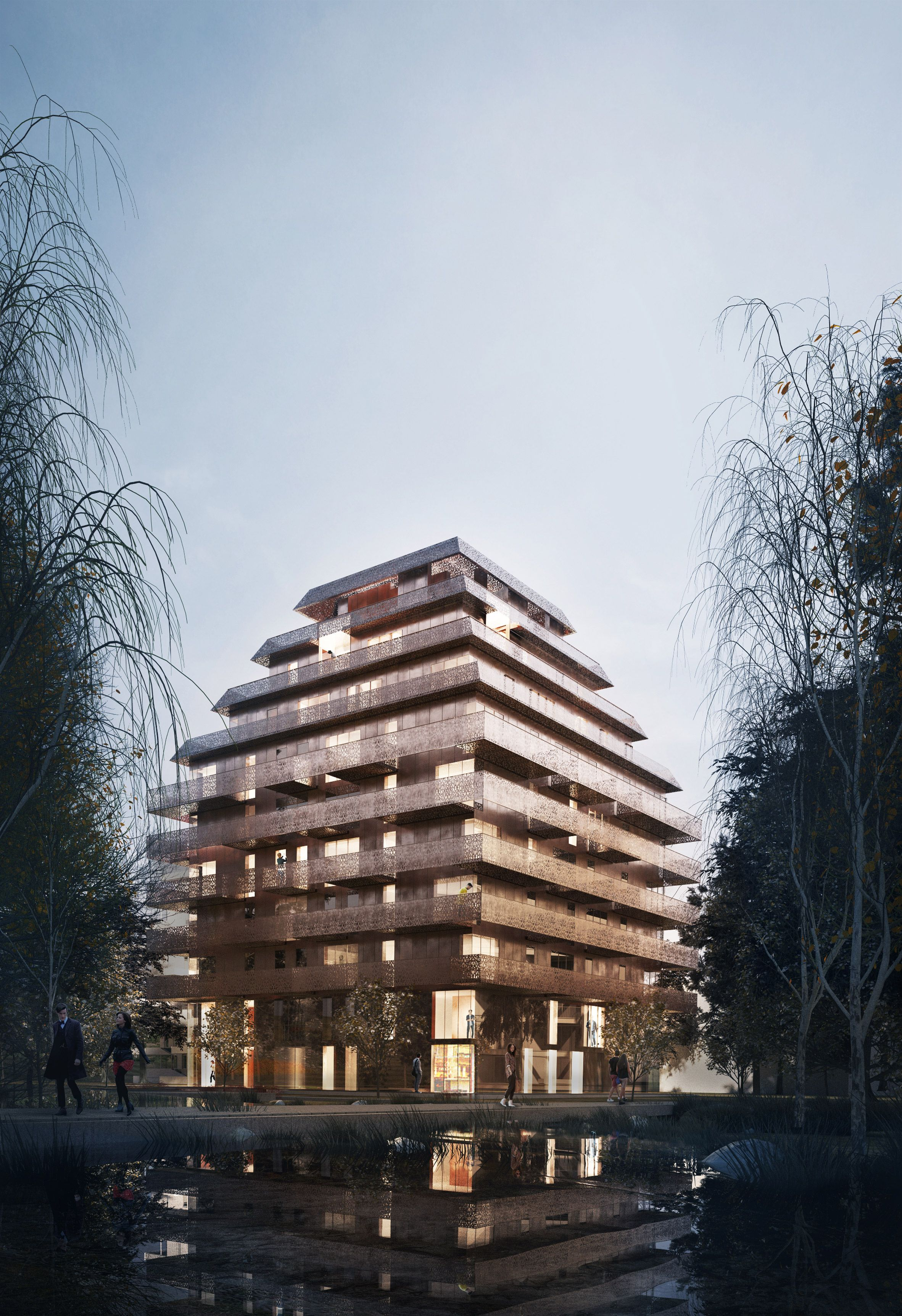Reiulf Ramstad Arkitekter Has Revealed Renderings For A Copper Ziggurat Like  Housing Tower Designed For. Contemporary ArchitectureArchitecture ...