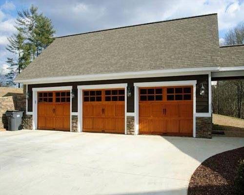 Three car garage garage plan pinterest car garage for Carport workshop plans