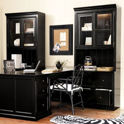 Home Office Built In Like The Black Home Office Furniture Home Office Decor Home