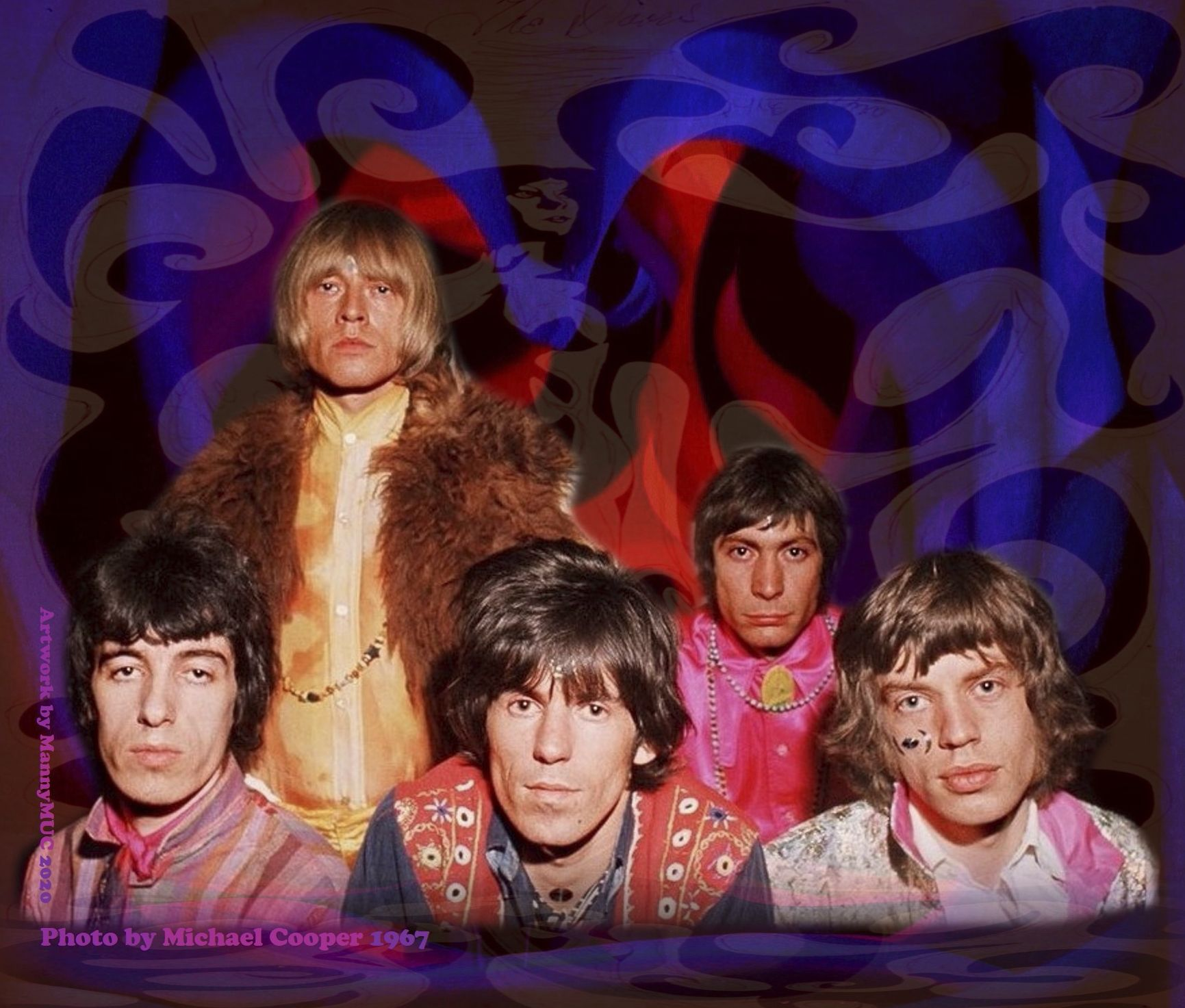 Psychedelic Rolling Stones In 1967 Time Capsule Rolling Stones Brian Jones Rolling Stones