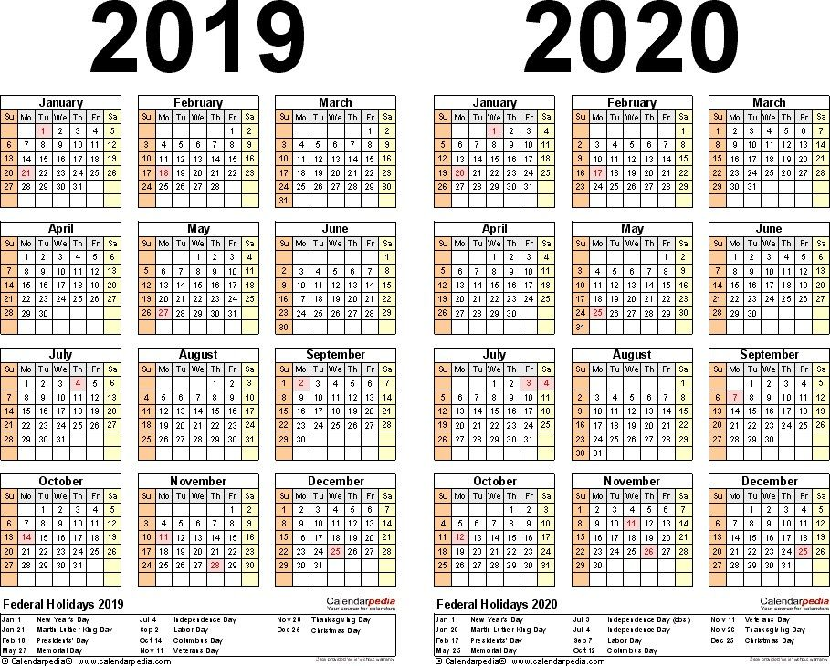 2019 2020 Calendar Free Printable Two Year Excel Calendars 2019 2020 Calendar Free Printable Two Year Word Ca August Calendar Calendar Wallpaper Excel Calendar