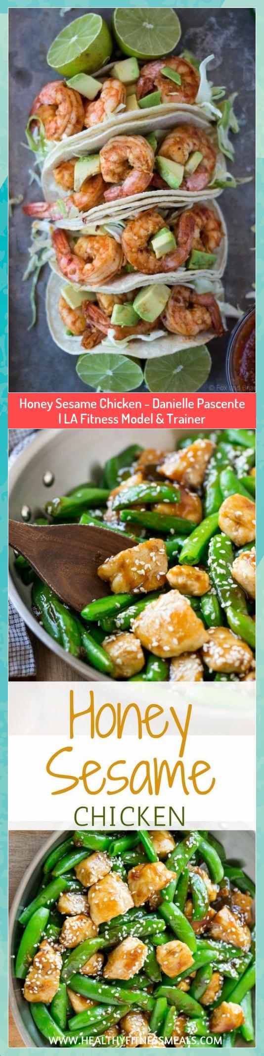 Honey Sesame Chicken - Danielle Pascente | LA Fitness Model & Trainer #Chicken #Danielle #fitness #H...