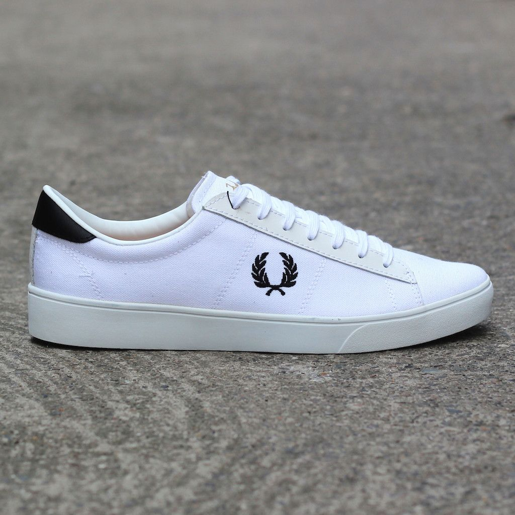 fred perry spencer canvas shoe white fredperry spencer