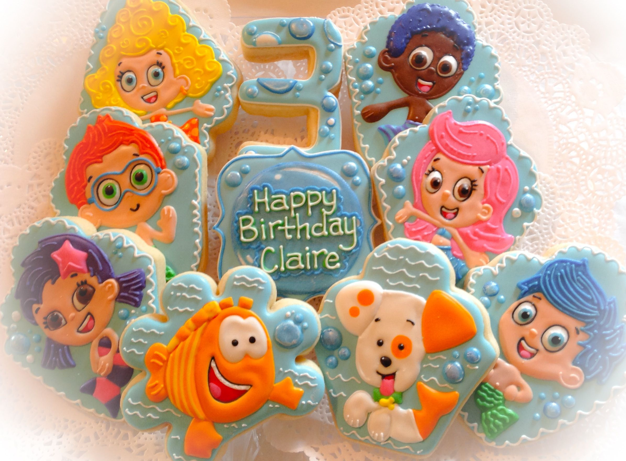 bubble guppy cookies cookies pinterest bubble guppies guppy