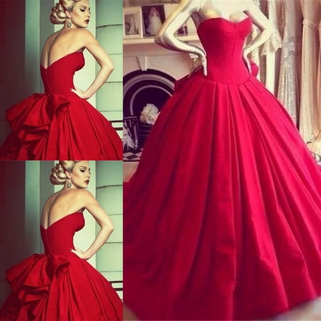 Red ball gown wedding dress  Vestidos de Novia  Red Ball Gown Wedding Dresses Custom Made