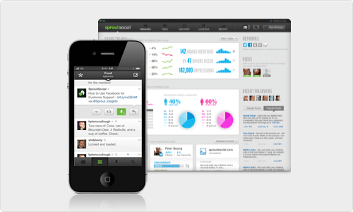 Sprout Social iPhone and Dashboard Design
