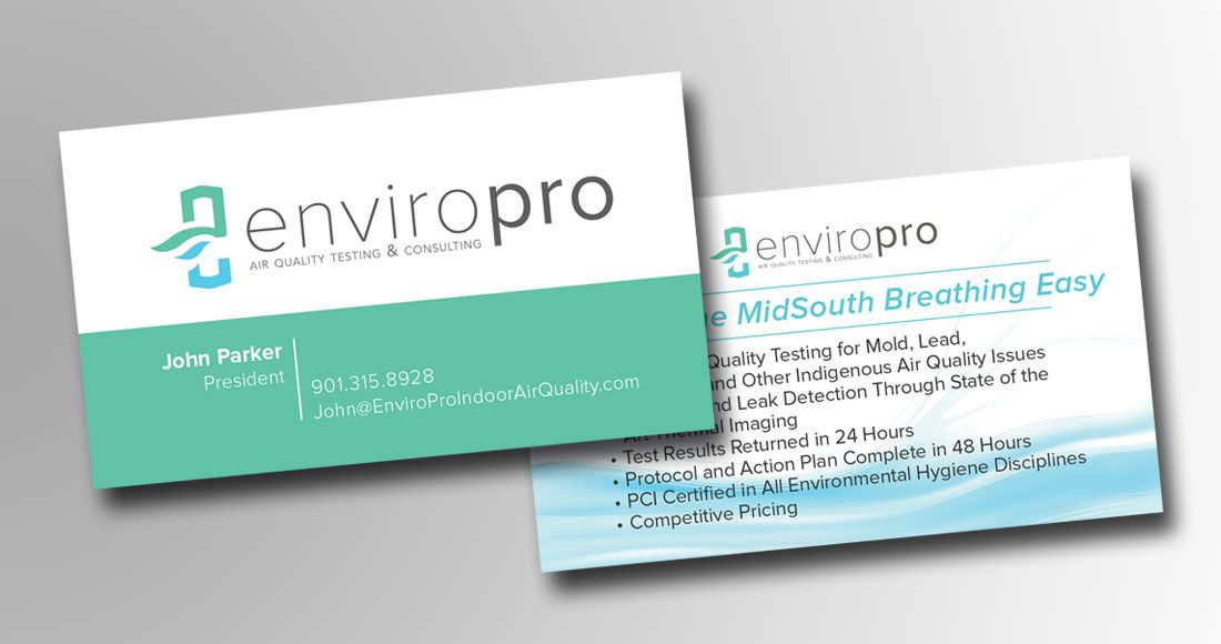 We developed the logo, tagline, and business cards for EnviroPro, an ...