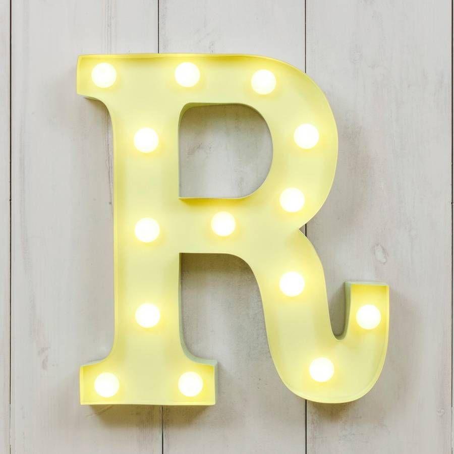Vegas Metal LED Circus Letter Light R | kids\' room ideas | Pinterest ...