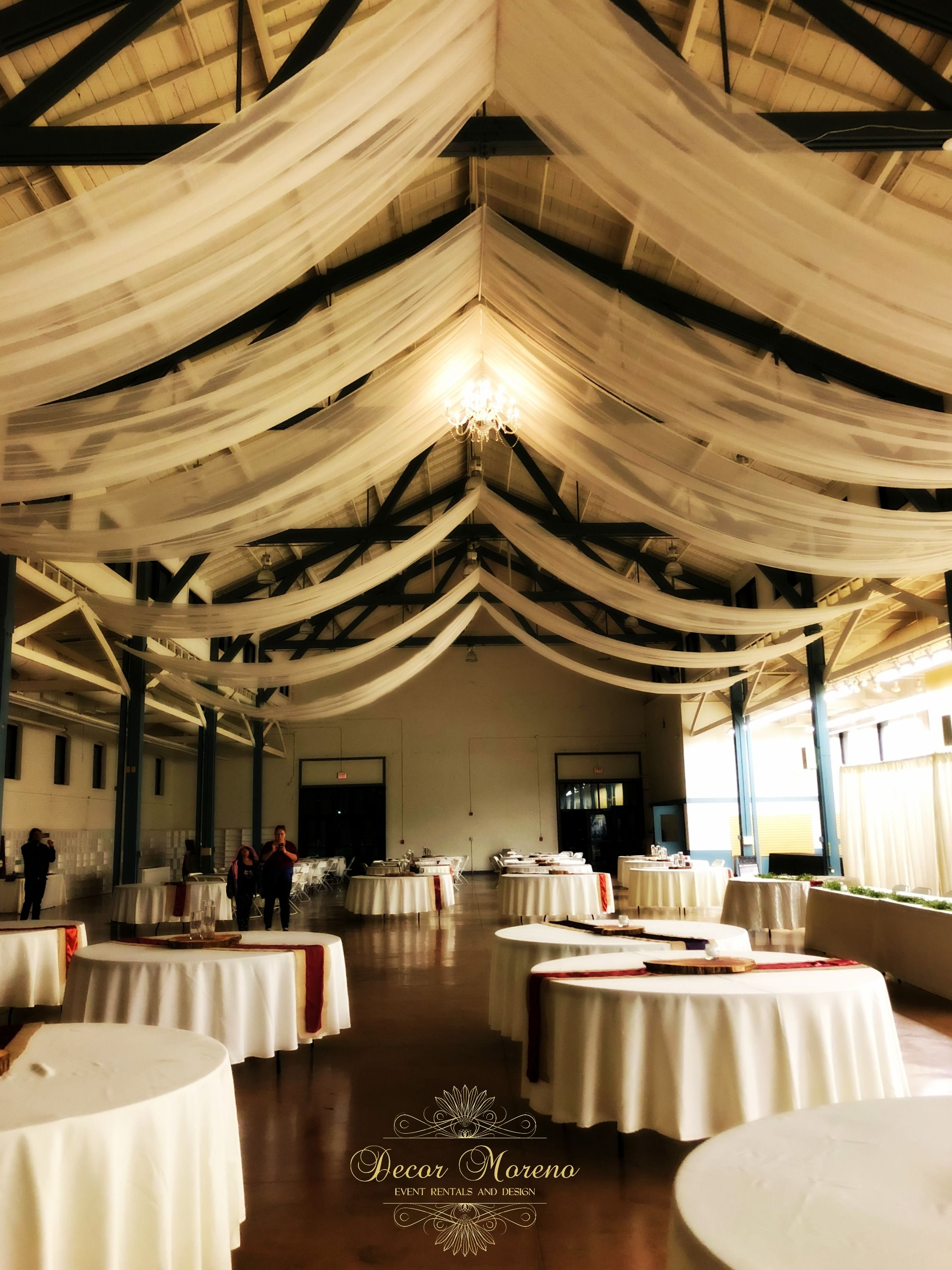 event rental more decor swag ceiling white taffeta draping galleries drape ceilings and