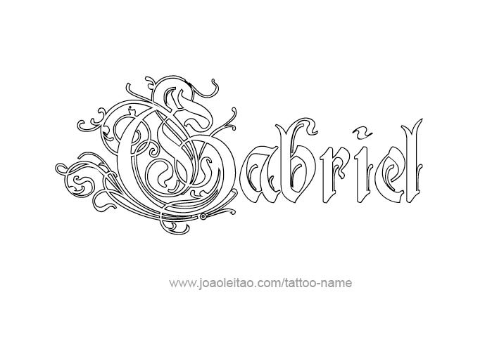 652915884 Gabriel Angel Name Tattoo Designs | Tats | Name tattoos, Tattoo ...