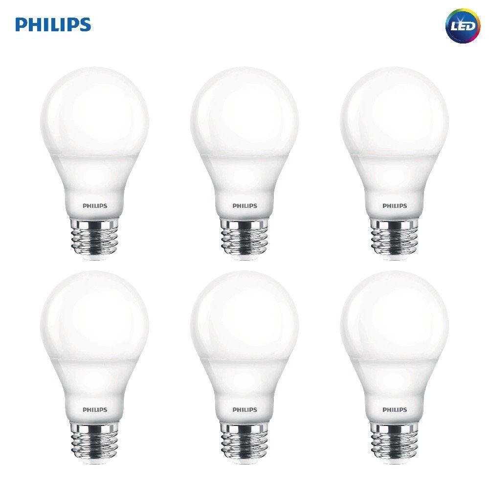 Philips Led Dimmable A19 Soft White Light Bulb With Warm Glow Effect 800 Lumen 2700 2200 Kelvin 9 5 Watt White Light Bulbs Light Bulb Bathroom Light Bulbs