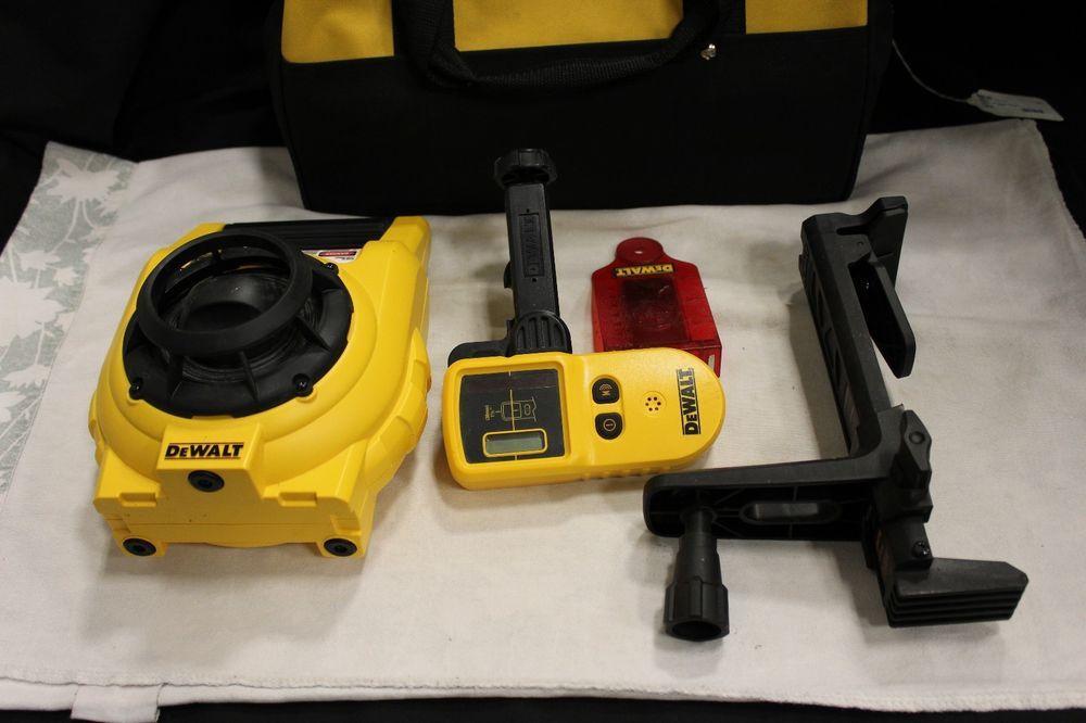 Dewalt Dw074 Dw0742 Rotary Laser Level And Detector Kit In Bag Ebay Link Dewalt Laser Levels Detector