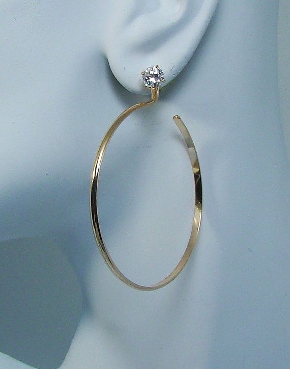 14k Gold Filled Large Hoop Earring Jackets Dangles For By Earcuffs 59 00
