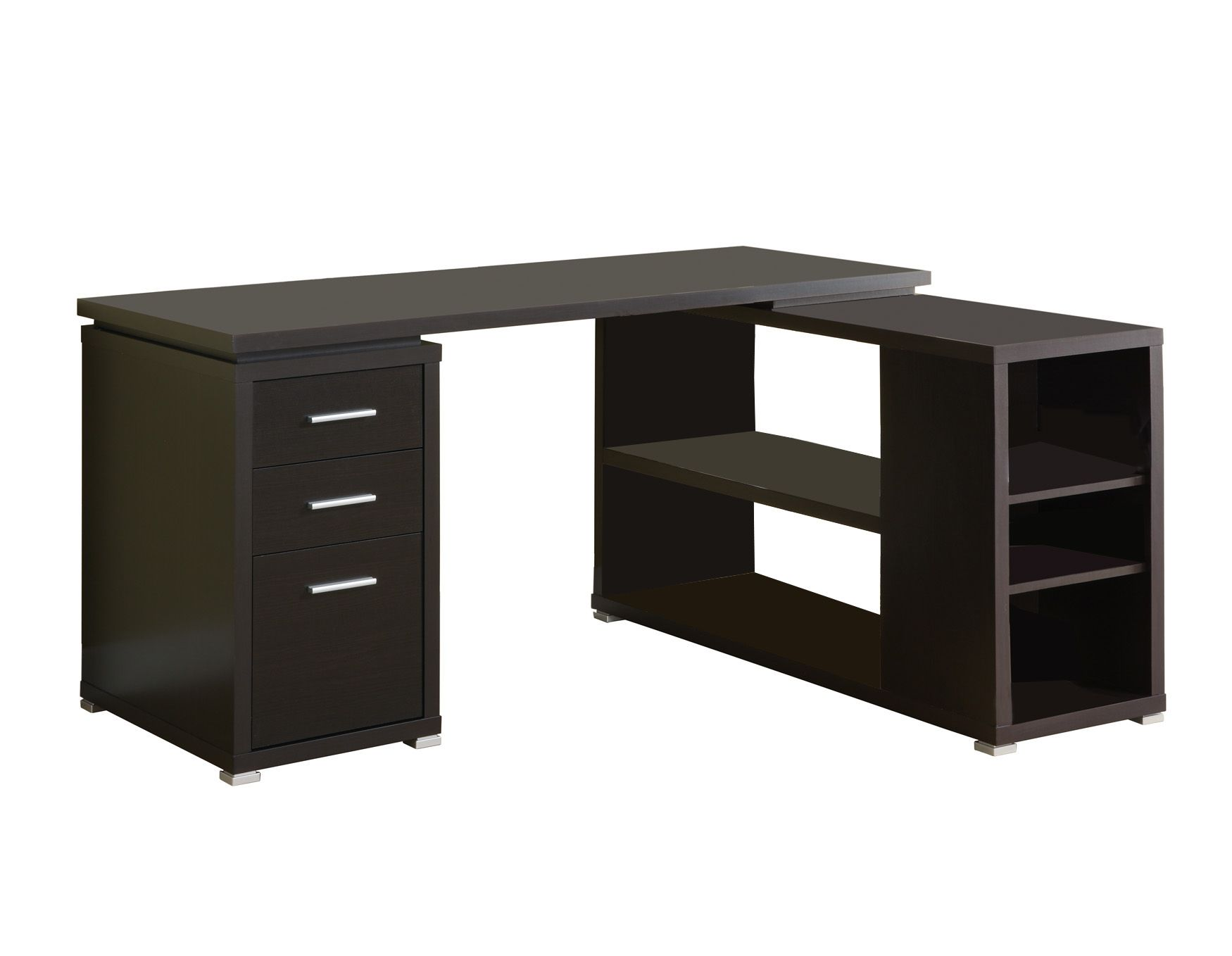 monarch cappuccino hollow core corner desk office furniture