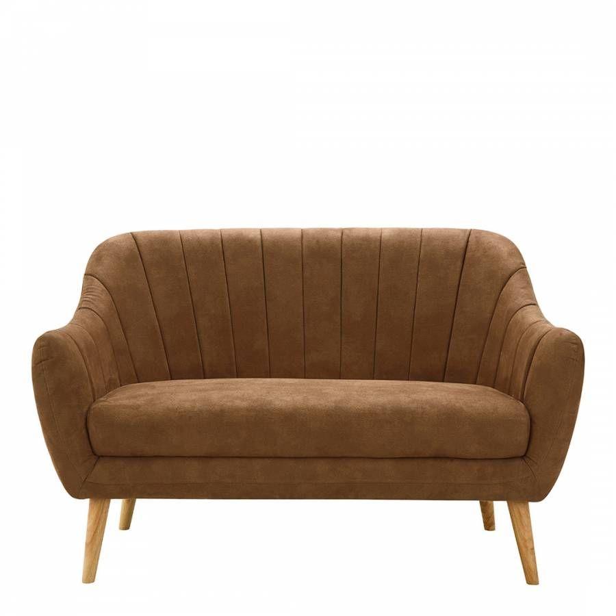 Premier Housewares Zurich 2 Seater Sofa, Brown