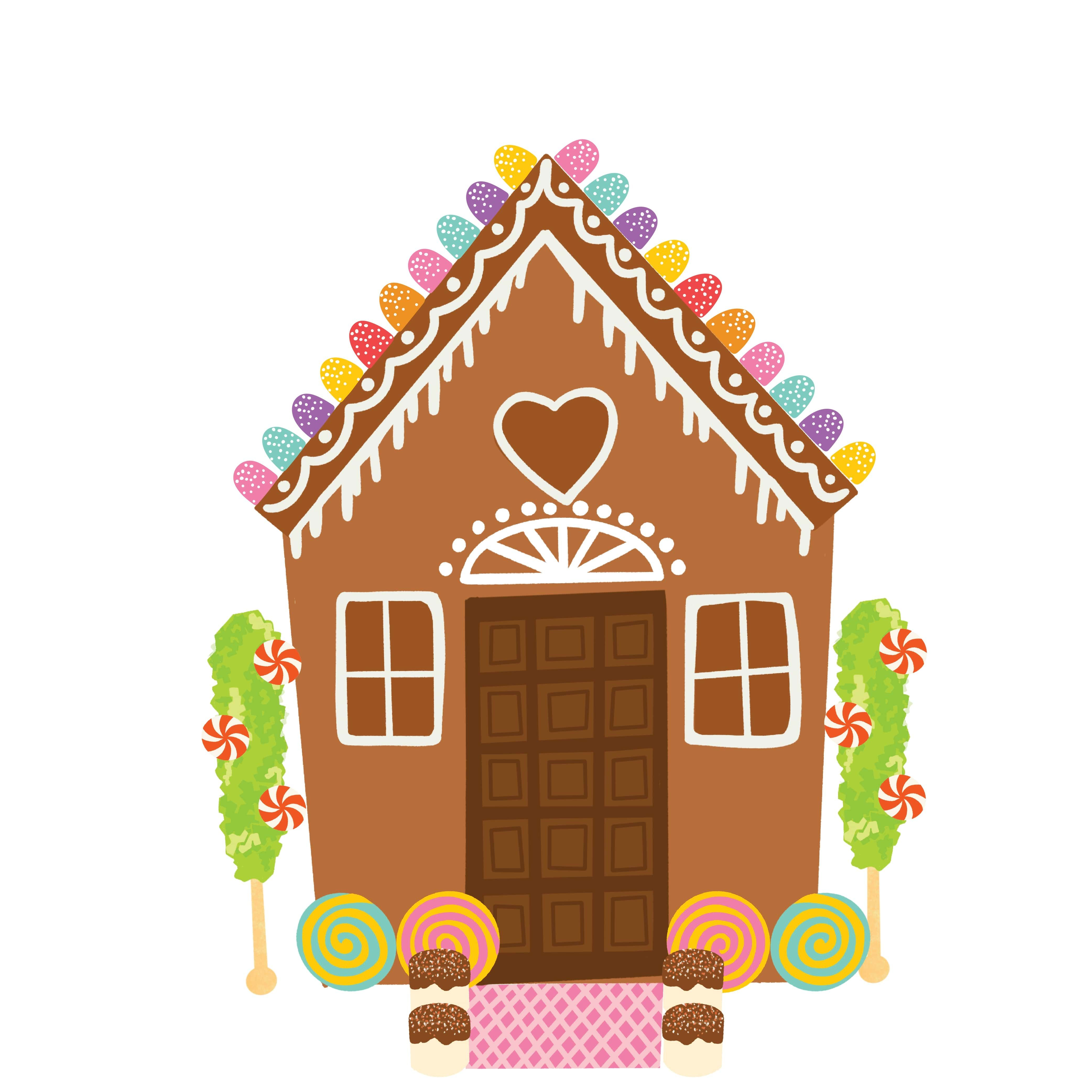 Christmas Gingerbread House Cartoon Png Digital File Etsy Christmas Gingerbread House Cartoons Png Christmas Gingerbread