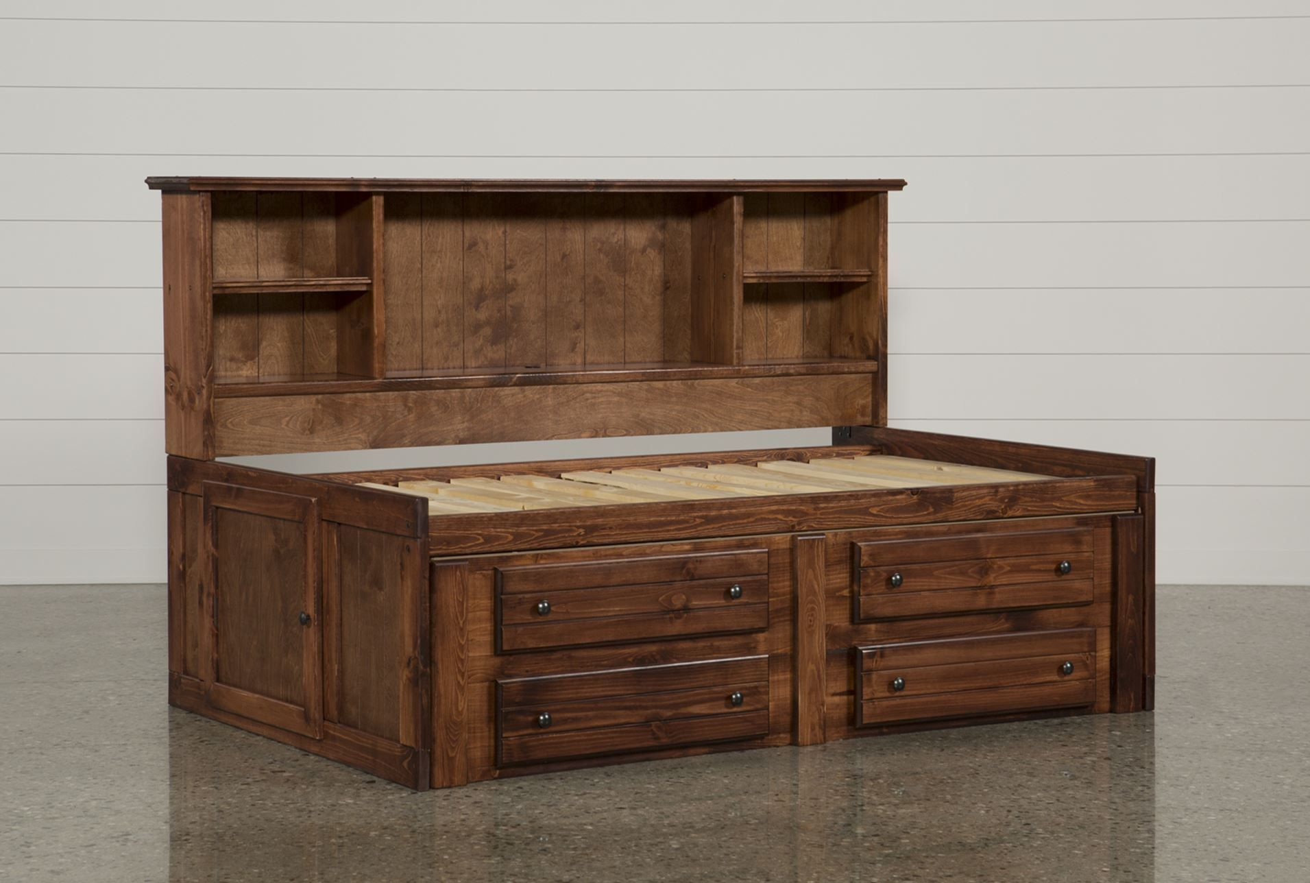 Sedona Twin Bookcase Daybed Bed With 4 Drawer Captains