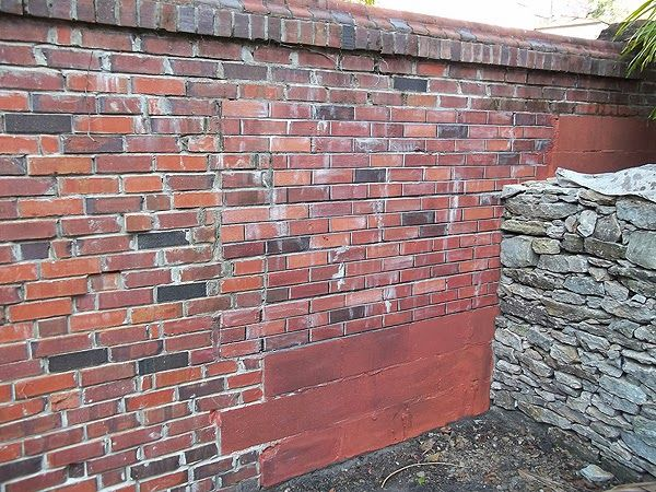 Painting cinder blocks to look like brick Landscape Pinterest - paredes de cemento