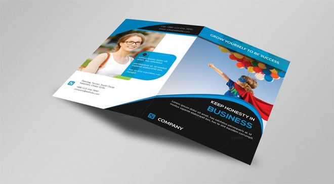 HD Modern A4 Bi-Fold Brochure Mytemplatedesigns Business