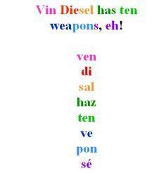 informal commands mnemonic device