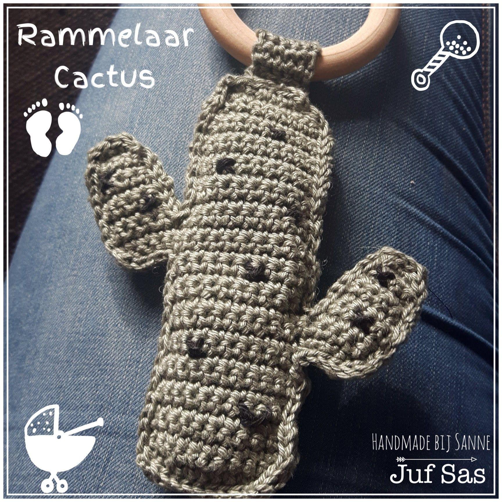 Gehaakte rammelaar Cactus handmade by Sanne met gratis patroon van ...