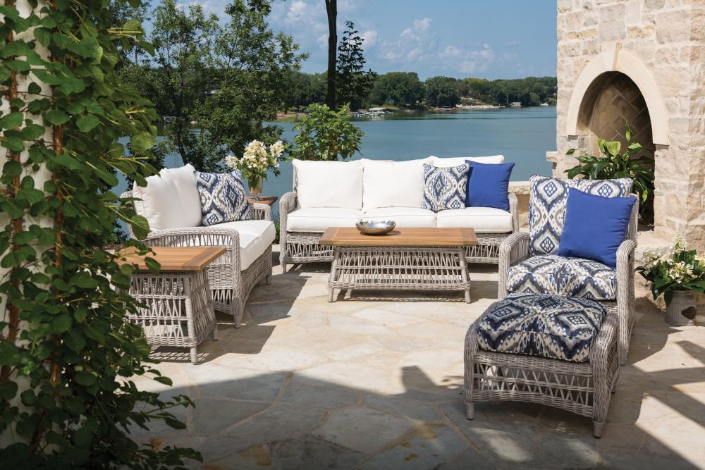 Item Lloyd Flanders Premium Outdoor Furniture In All Weather Wicker Woven Vinyl And Teak Wicker Sofa Outdoor Outdoor Furniture Outdoor Loveseat