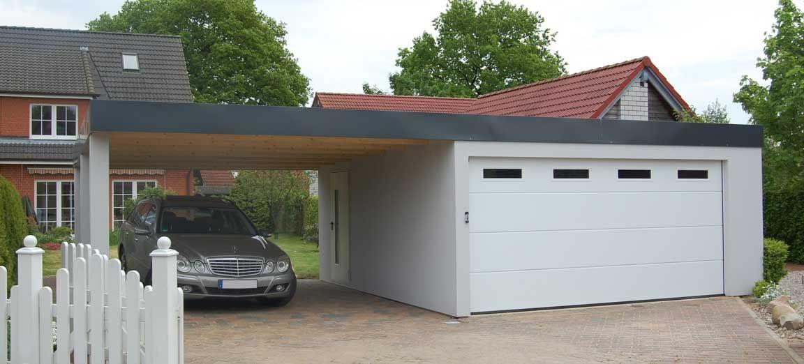 Garage Und Carport Kombination garagen-carport-kombination als fertiggarage | garage | pinterest