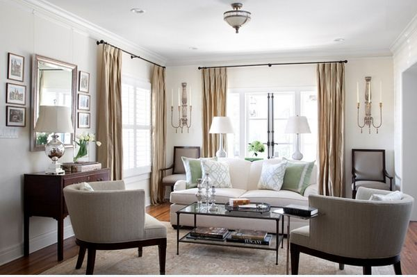 Attractive Elegant White And Beige Small Living Room Design Part 21