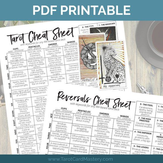image about Printable Tarot Cheat Sheet called Printable Tarot Card Cheat Sheet