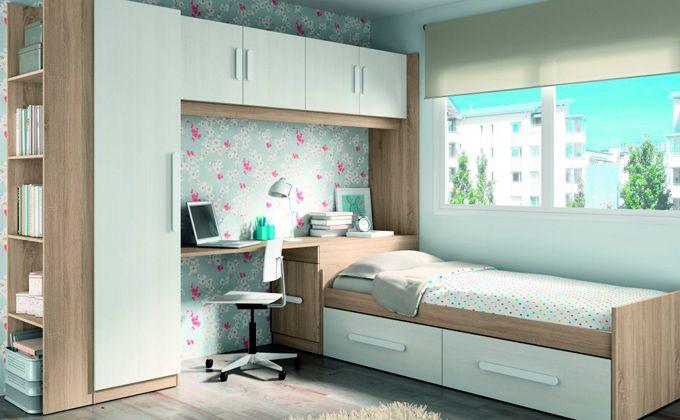 Dormitorio juvenil en puente decoracion de habitaciones - Dormitorio puente ...