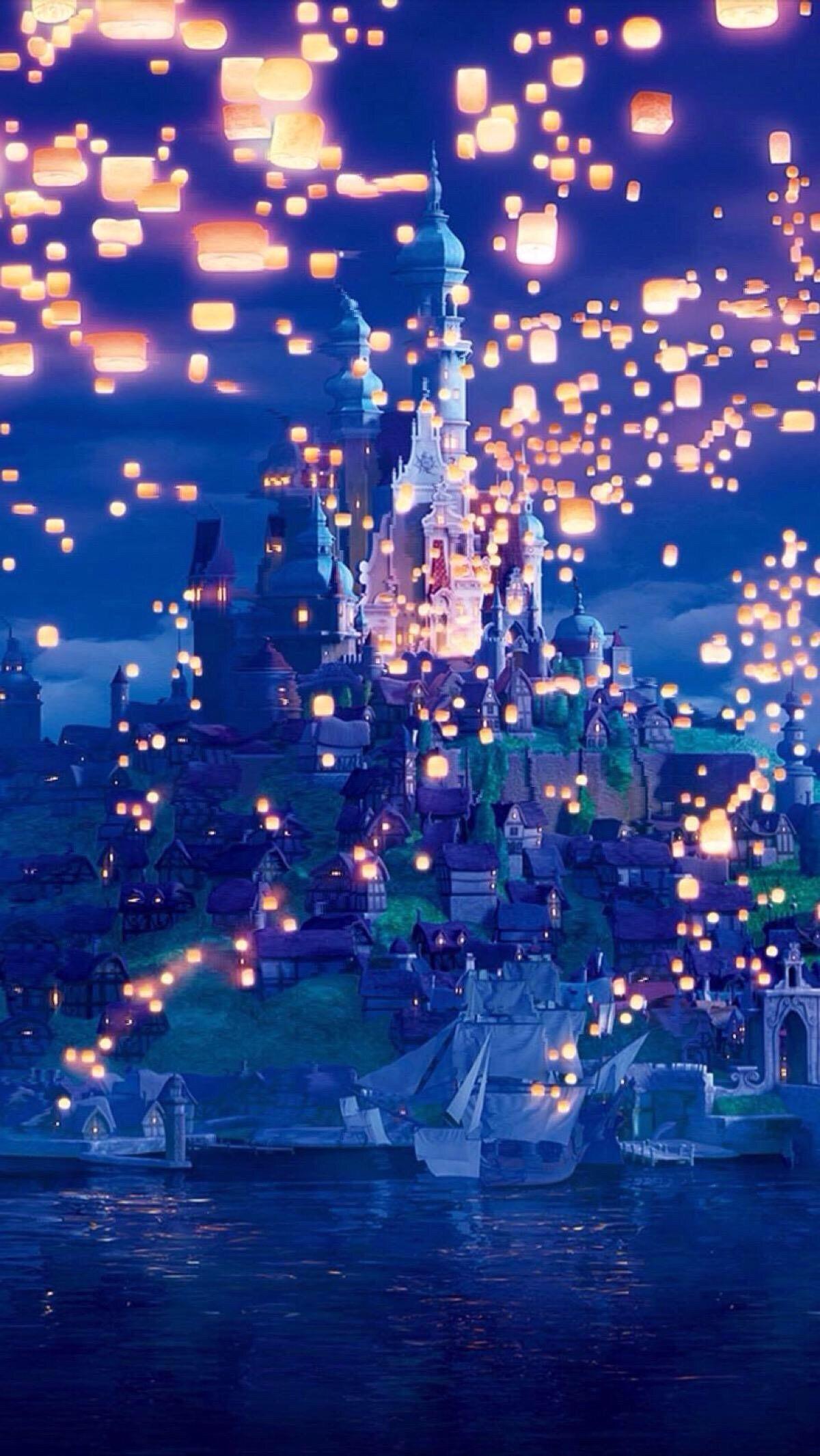 Rapunzel Castle Fairytale Disney Background Disney Wallpaper Wallpaper Iphone Disney Princess