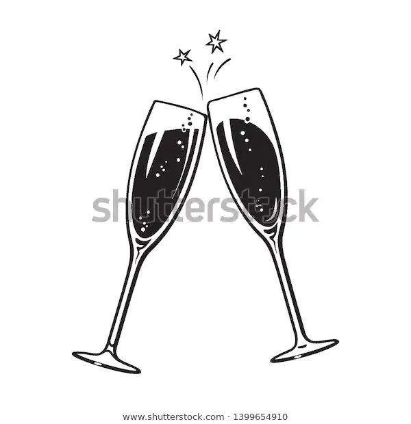 Two Sparkling Glasses Champagne Wine Cheers Stock Vector Royalty Free 1399654910 Champagne Champagne Bubbles Wine