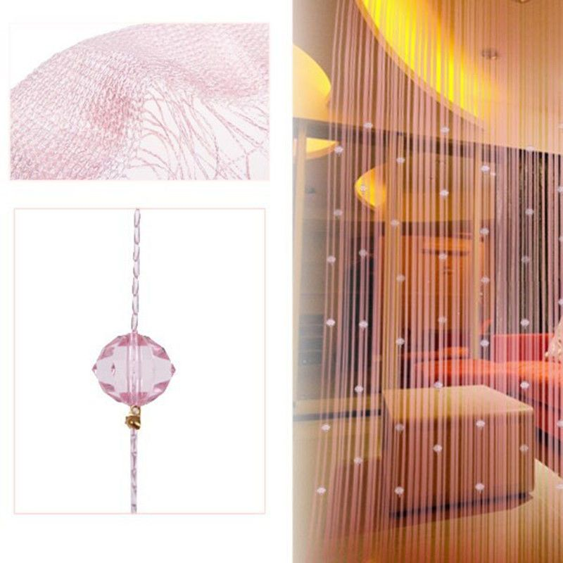 $6.48 Per Piece   Romatic String Curtain With Beads Decor Tassels Fly  Insect Door Screen Divider