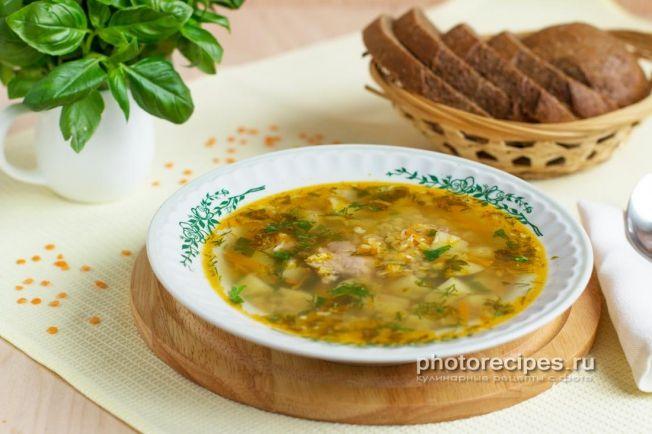 Фото супа с персидской чечевицей